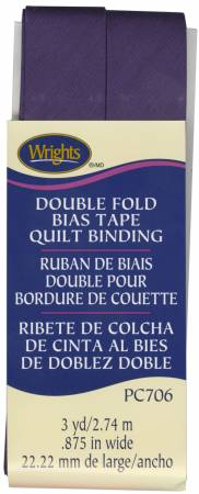 WRIGHTS Double Fold Quilt Binding Plum