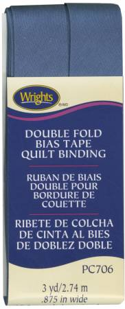 Double Fold Quilt Binding Stone Blue Bias Tape