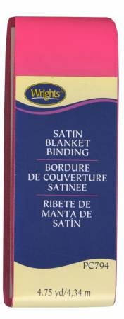 Satin Blanket Binding Bright Pink