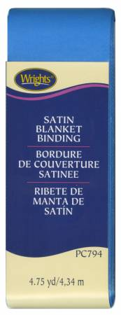 Satin Blanket Binding Neon Blue