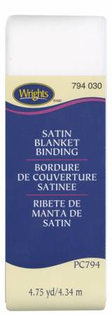 Satin Blanket Binding White
