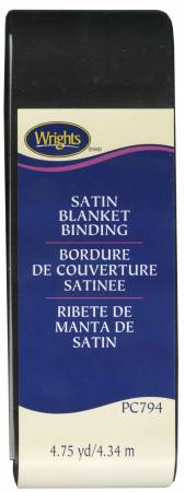 Satin Blanket Binding Black