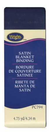 Satin Blanket Binding Navy