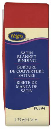 Satin Blanket Binding Red