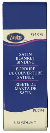 Poly Blanket Binding 4.75yd  Yale Blue
