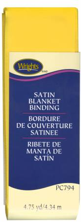 Satin Blanket Binding Yellow