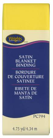 Polyester Blanket Binding 4-3/4yd Canary