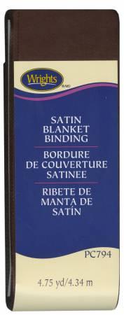 Satin Blanket Binding Seal Brown