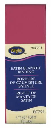 Wrights Poly Blanket Binding 4.75yd Hot Magenta
