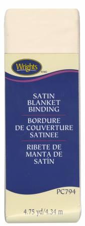 Wrights Satin Blanket Binding Ivory 2x4.75yds