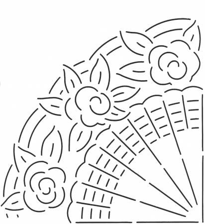 Quilt Stencil Fan Design