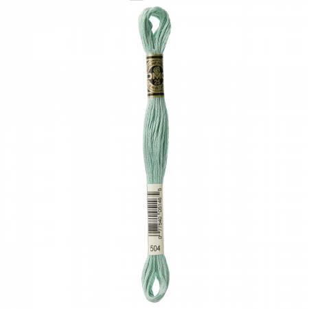 DMC Six Strand Floss Very Light Blue Green - 504