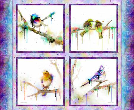 Multi Bird Panel Digitally Printed
