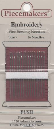 Piecemakers Needles - Embroidery Size 7