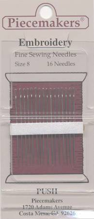 Piecemaker Embroidery / Crewel Needles Size 8