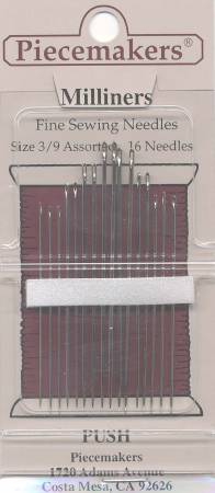 Piecemaker Milliners / Straw Needles Assorted Sizes 3/9