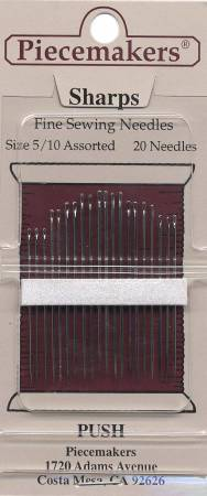 Piecemaker Sharps Needles Assorted Sizes 5/10