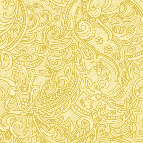 Yellow Paisley Lines