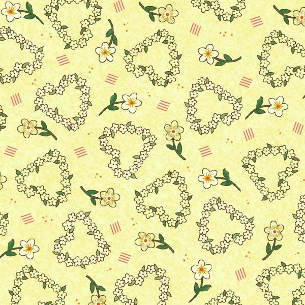 Yellow Flower Hearts