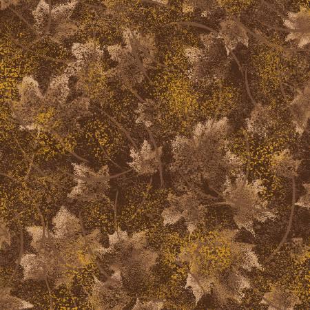 Brown Tonal Leaves w/Metallic