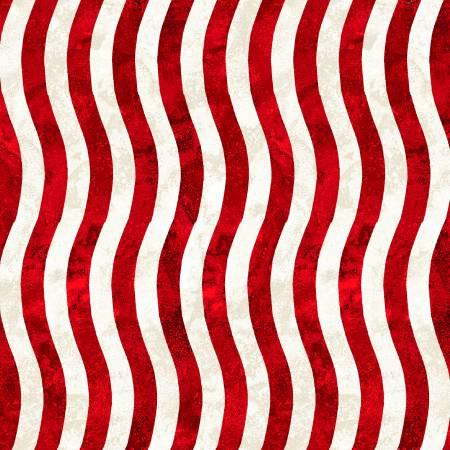 Red/White Wavy Stripe