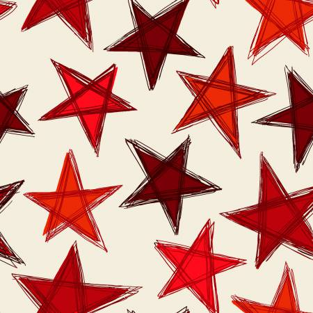 Red/Beige Large Stars