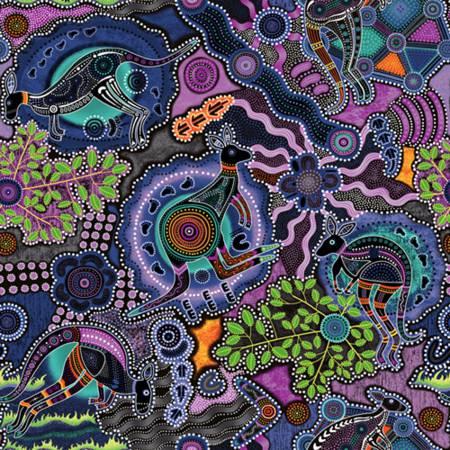 Walkabout II Purple Kangaroo