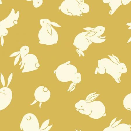 Moon Rabbit - Yellow Rabbit Allover