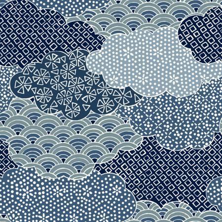 Moon Rabbit Blue Clouds