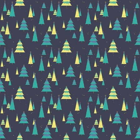 Night of the Nutcracker - Starry Woods on Dark Blue