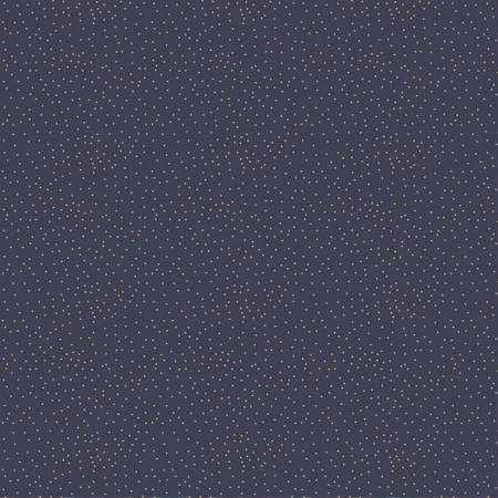 Night of the Nutcracker - Gold Dots on Dark Blue