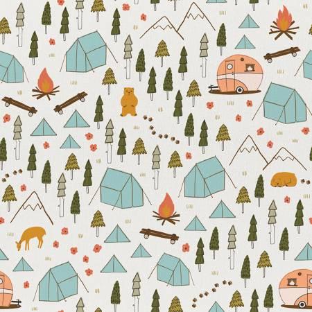 Ecru Vintage Camping