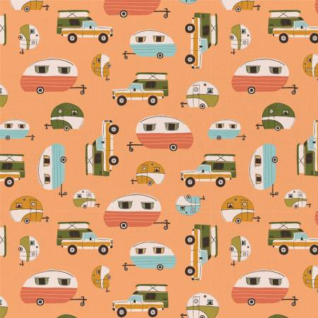 Peach Vintage Camping
