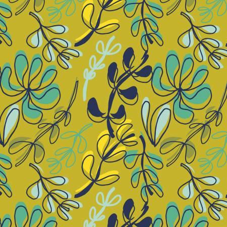 120 20301 Olive Leaves Bloom Windswept for Paintbrush Studio. 100% cotton 43 wide