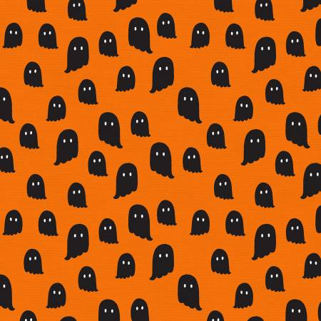 Halloween Ghosts Cotton - Orange