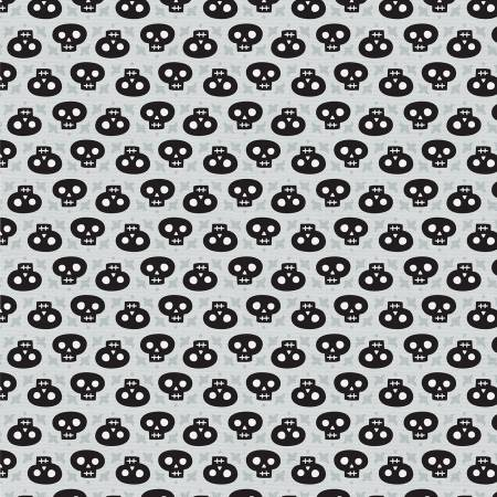 Halloween Night Skulls black