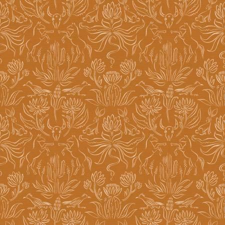 Desert Horses Critters Orange