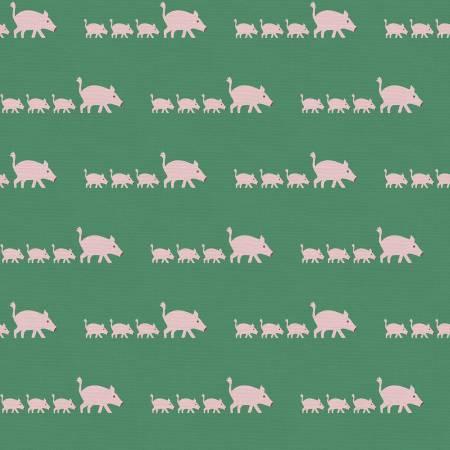 Animal Kingdom Pig Fabric by the yard