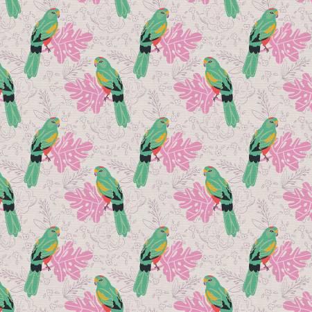 Birds & Blooms Parrots Grey