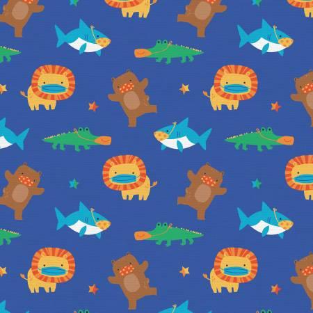 Mask Up Shark Lion Bear Gator