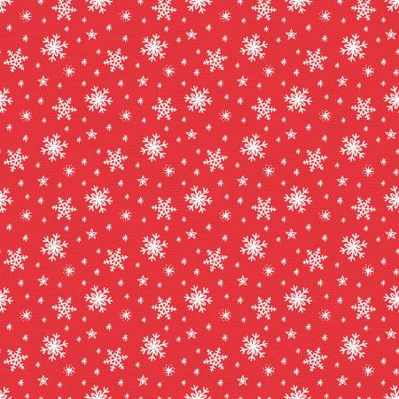 Gnome Noel Snow Flakes Red