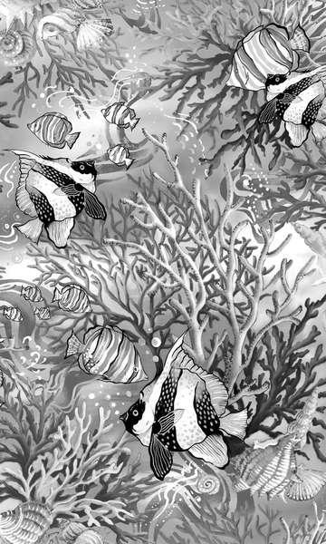 Coral Sea 120-7902 Greyscale