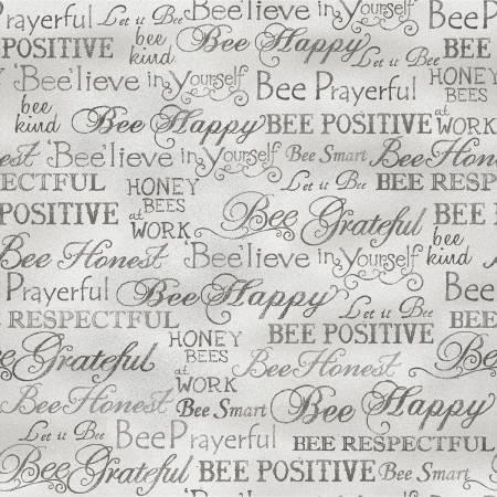 Grey Bee Kind Bee Happy Words
