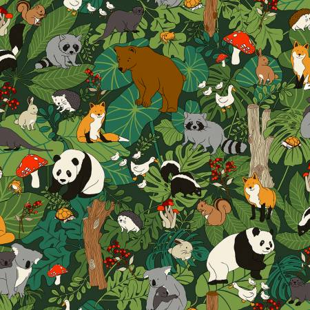 Forest Animals in Trees