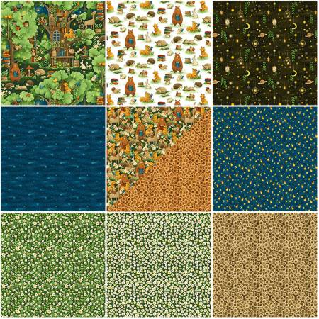 Fat Quarter Bundles Forest Animals, 11pcs/bundle