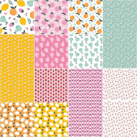 Fat Quarter Bundle Fruity, 12pcs/bundle