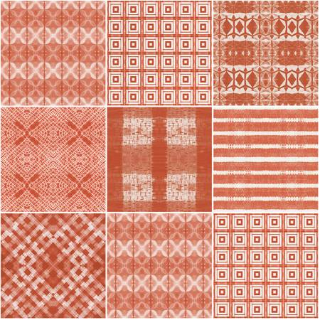Fat Quarter Shibori Dye 7pc/bundle in Peach