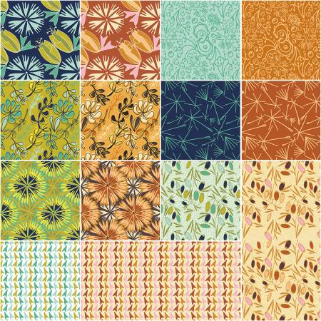 Fat Quarter Bloom 14pcs/bundle