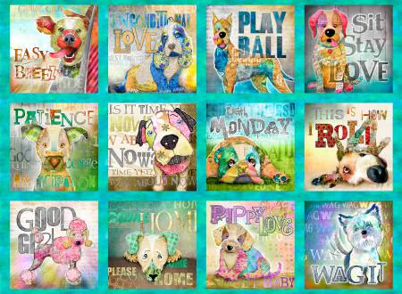 Good Dogs 12204 Panel Multi Digitally Printed