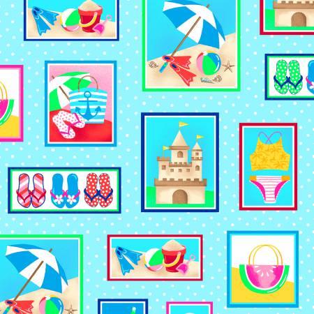 Just Beachy - Blue Blocks